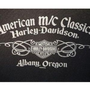 Men Harley Davidson Albany Oregon Top Hanes Beefy